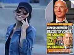 Jeff Bezos' lover laughs on the phone as the world's richest man outs National Enquirer 'blackmail'