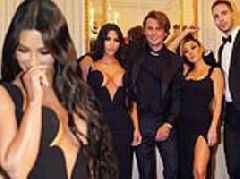 Kim Kardashian takes her fans behind the scenes as she's joined by Kourtney at amfAR Gala in NYC