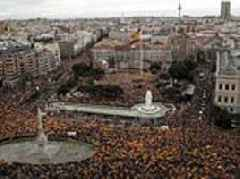 Madrid protests against Spanish government's plans to call talks with Catalan separatists