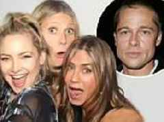 Inside Jennifer Aniston's 50th: Brad Pitt was greeted with a warm hug from ex wife, spent four hours