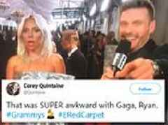 Twitter users mock Ryan Seacrest for his awkward interview with Lady Gaga