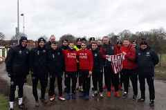 Sheffield United train in Tamworth before big game with Aston Villa