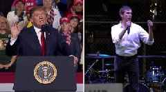 President Trump and Beto O'Rourke's rival rallies in El Paso