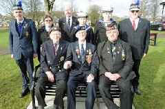 Benches unveiled in Dalbeattie's Colliston park to commemorate World War One and World War Two