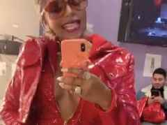 Look: Ashanti Looks Spicy AF In Hot Sauce Red Outfit W/ Ja Rule