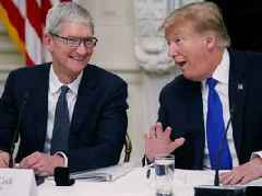 Trump says he did say Tim Cook, he just said 'Cook' really quietly