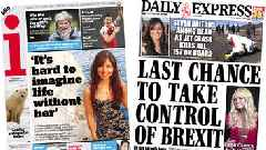 Newspaper headlines: Crunch Brexit vote and plane crash tributes