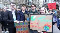 Climate change: Students around England protest