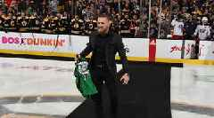 Watch: Conor McGregor Drops Ceremonial Puck at Bruins Game for St. Patrick's Day