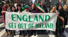 Explanation demanded from Sinn Fein leader Mary Lou McDonald over 'England get out of Ireland' banner