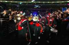 Errol Spence Jr. busts out a marching band for epic ring entrance before beating Mikey Garcia