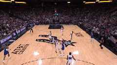 Stephen Curry makes an amazing buzzer-beater for Golden State against San Antonio