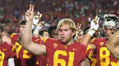 WATCH: Blind USC Long Snapper Jake Olson Does 17 Reps on Bench Press for Charity at Pro Day