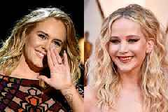 Adele Plays Musical Shots at NYC Gay Bar, Jennifer Lawrence Tackles Her When She Loses (Video)