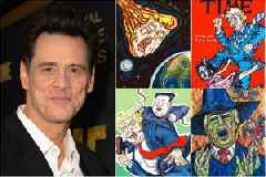 Jim Carrey Depicts an Apocalyptic Trump Presidency and 40 More of His Politically Charged Artworks (Photos)