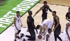 UCF's Tacko Fall, on His Knees, Appears As Tall As VCU Player