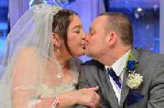 'She never stopped smiling and laughing on our wedding day...' - Grieving widower leads tributes to NHS worker, 49, who died just six days after they got married
