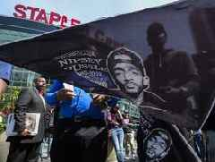 When a strip mall becomes a symbol: At Nipsey Hussle's Marathon Clothing, thousands pay last ...