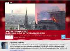 YouTube videos tracking the Notre-Dame Cathedral fire mistakenly showed some viewers information about the September 11 terror attacks (GOOG, GOOGL)