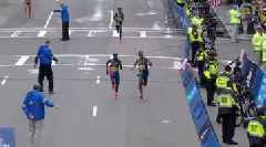 WATCH: Boston Marathon Ends in Photo Finish as Lawrence Cherono Edges Lelisa Desisa