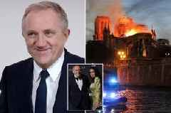 Gucci billionaire married to Salma Hayek offers £90million to rebuild Notre Dame