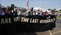 Activists stage climate change protest at Heathrow Airport
