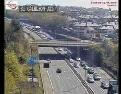 Live updates as both lanes of the M4 blocked after crash