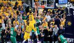 Watch: Myles Turner Slams Home Best Dunk of the Postseason on Gordon Hayward