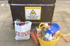 Today is Earth day but look what visitors to Cleethorpes left behind