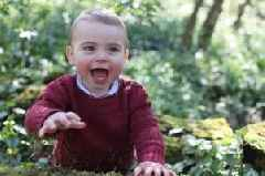 New Prince Louis photos shared by mum Kate Middleton to mark first birthday