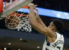 Giannis Antetokounmpo leads Bucks to perfunctory sweep of Pistons, setting stage for Celtics rematch