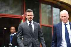 David Beckham banned from driving for six months after using phone at wheel