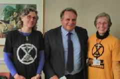 MP tells Extinction Rebellion protesters they had put a spotlight on the issue