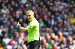 The referees for the West Brom vs Aston Villa and Leeds United vs Derby County second legs