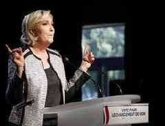 Le Pen Makes 'OK' Hand Gesture Used By White Supremacists