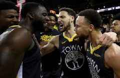 Nick Wright reacts to the Warriors' comeback Game 2 win over the Blazers