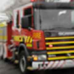 One person injured in a fire at a commercial building in Pukekohe
