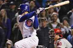 Baez ropes walk-off single down 1st baseline to seal win over Phillies