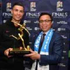 Ronaldo Takes Home Alipay Top Scorer Trophy at UEFA Nations League Finals