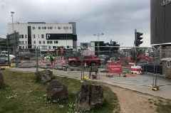 City centre traffic lights down after council workers hit electric cable - latest updates