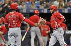 Morton's streak ends as Angels beat Rays 5-3