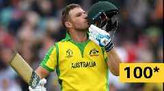 Cricket World Cup: Australia's Aaron Finch smashes a six for century against Sri Lanka