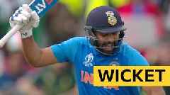 Cricket World Cup: India's Rohit Sharma is caught by Pakistan's Wahab Riaz