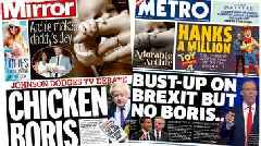 Paper review: 'Chicken Boris' jibe as Tory rivals clash