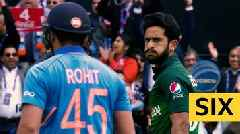 Cricket World Cup: India's Rohit Sharma smashes six against Pakistan
