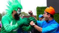 Fans gather for India-Pak World Cup game