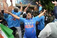 Live: Crowds in Belgrave Road, Leicester celebrating India's victory over Pakistan in Cricket World Cup