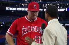 Mike Trout on his outstanding offensive performance tonight