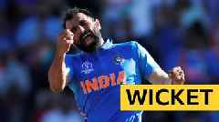Cricket World Cup: India's Mohammad Shami takes a hat-trick v Afghanistan