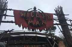 Alton Towers Wicker Man ride closed until further notice